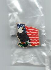 American Flag with Eagle Lapel Hat Pin, New