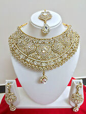 Bollywood Indian Bridal Necklace Earring Gold Bridal Wear Fashion Jewellery Set