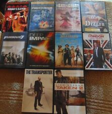 Lot of 10 ACTION ADVENTURE DVDs - Vin Diesel  Ben Affleck  Matt Damon +