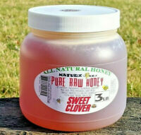 RAW HONEY SWEET CLOVER 3 LBS 100% PURE RAW UNFILTERED