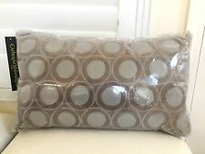 "CATHERINE MALANDRINO HOME Decorative Pillow Metro Grey 20x12"" NIP Authentic New"