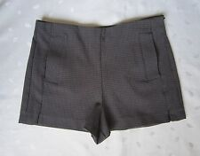 ZARA Women High Waist Dark Blue Short Shorts ~ Size M / Medium