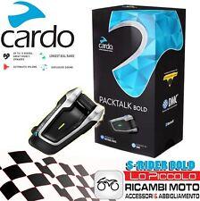 Interfono Cardo Scala Rider PACKTALK BOLD X Casco Caschi UNIVERSALE Moto Scooter