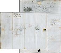 GB 1849 FANCY PRINTED COMMERCIAL BILLHEAD RICHARD WEST GROCER WORCESTER LUDLOW