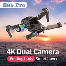 E88 4K HD Dual Camera Drone Foldable RC Quadcopter 1080p Wide Angle Selfie Drone