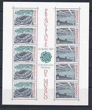 MONACO BLOC FEUILLET 37 EUROPA 1987 N**  CT 31€ STADE LOUIS II PISCINE OLYMPIQUE