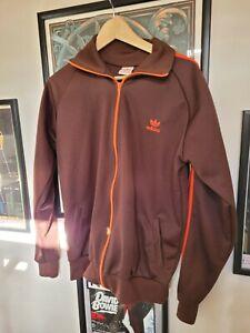 Adidas Originals Track Top (Size Large L) Brown Orange Great Condition!