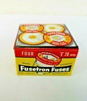 4-PK T-20 FUSETRON Plug Fuse BUSS Bussmann NEW Fuses TIME DELAY 20 Amp NEW WOW!