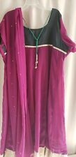 Women Purple Kurta Top Salwar Kameez Sari Saree Plus Size 52 2X