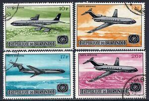 628 - Burundi - Plane - Used Set