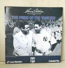 THE PRIDE OF THE YANKEES -- 2-Disc Laserdisc -- LD GARY COOPER