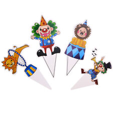 48pcs/pack Kids Birthday Decoration Cupcake Topper Circus Party (Mixed color)