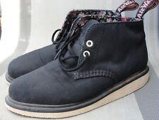 Dr Martens Nixon Canvas Black Womens Boots shoes size 9