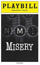 """Bruce Willis """"MISERY"""" Laurie Metcalf / Stephen King 2016 Broadway Playbill"""