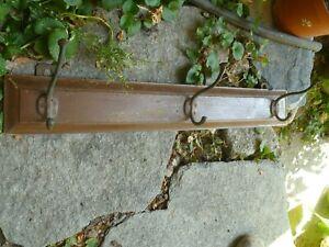 Antique Coat Rack  Wood&Brass Hook Vintage Kitchen Rack