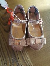 Ted Baker Baby Girls Pink Sparkly Party Pumps Size Uk Infant 5