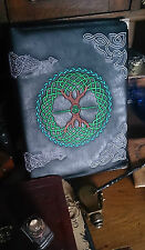 A4 Binder/Folder with Pagan Embroidered Faux Leather Cover May Be Personalised