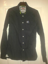 Mens Formal Shirt / Proper Shirt - Superdry Limited Edition - Dark Blue - Size S