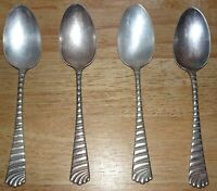 WM Rogers Set of 4 Antique Serving Dinner Spoon silver plated San Diego Pattern