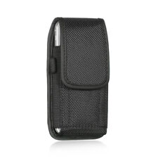 for iPhone SE 5C 5S - VERTICAL BLACK Cloth Pouch Holder Belt Clip Holster Case