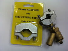 Self Cutting Drain Off Valve 15mm with 22mm Adaptor MT Cock Tap