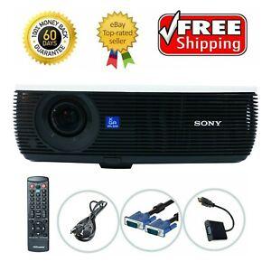 Sony VPL-EX4 3LCD Projector Portable HD 1080i HDMI-adapter w/Remote bundle