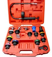 Radiator Pressure Compression Tester Kit 18pc Cooling System Leak Detector Tool