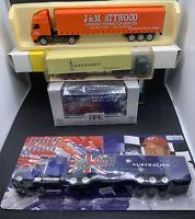 Joblot Of 4 Mixed Diecast/Plastic Trucks - EFE,Wiking,Michael Schumacher,Lledo