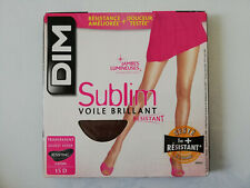 DIM SUBLIM VOILE BRILLANT COLLANT 15 DEN TAILLE 4  COULEUR DARK BROWN
