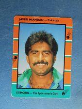 SCANLENS STIMOROL 1988/89 CRICKET CARD - Javed Miandad # 117 (Pak)