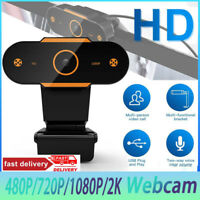 1080P 2K HD Webcam Camera With Microphone Video Call For Laptop Desktop Computer