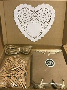 Mini Wooden Pegs, Twine and Tags, Wedding Decorations, Vintage, Rustic