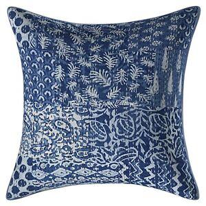 Bohemian Throw Pillow Cover 45 x 45 cm Kantha Cotton Patchwork Cushion Cover