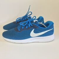 Nike Tanjun Mens Size 11.5 Running Shoes  844887-401 Blue White Lace Up