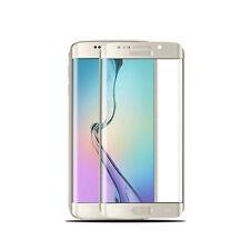 Samsung Galaxy S6 Edge 3D Curve Panzerfolie gewölbt Panzerglas Full Cover GOLD