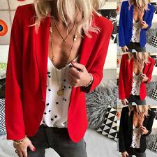 UK Women Ladies Long Sleeve Slim Fit Blazer Jacket Coat Casual Suit Tops Outwear
