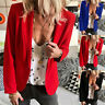 UK Women Ladies Long Sleeve Slim Fit Blazer Jacket Coat Casual Suit Tops Outwear