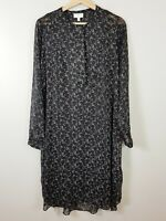WITCHERY Womens Size 12 Floral Print Long Sleeve Dress