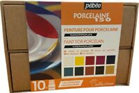 Pebeo Porcelaine 150 Collection Set 10x 45ml Paint China Ceramic Painting 758471