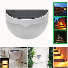Hot Garden 6-LED Solar Power Sensor Wall Light Outdoor Yard Lamp Waterproof IP55
