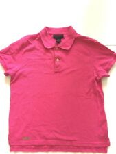 Polo Ralph Lauren Women's Pink Polo Shirt Size Medium Collared Rugby