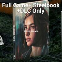 PS4 Deluxe FULL VIDEO GAME STEELBOOK CASE DLC Ellie Edition Last of Us Part II 2