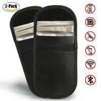 2 x Car Key Signal Blocker Case Faraday Bag Keyless Entry Anti-Theft  Fob Pouch