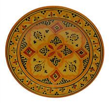 "Moroccan Ceramic Plate Handmade Pasta Bowl Serving Wall Hanging 14"" X-large"
