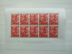 1942 LEGIOEN SHEET OF 10 STAMPS VF MNH NEDERLAND NETHERLANDS B500.3 $0.99