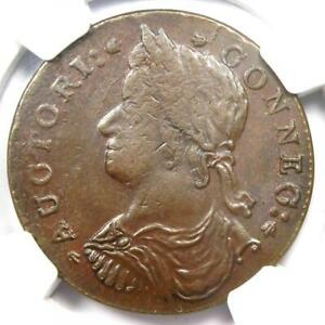 1787 Connecticut Draped Bust Left Coin - NGC MS63 (BU UNC) - $11,500 Value!