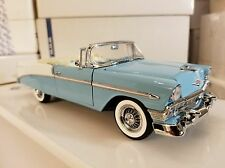 #625 of only 750 Nassau Blue & India Ivory 1956 Chevy Bel Air Franklin Mint 1:24