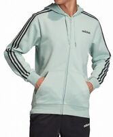 Adidas Mens Track Hoodie Mint Green Size 2XL 3-Stripes Fleece Full Zip $60 151