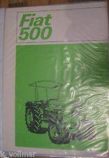 ✪✪Traktor/Trecker/Schlepper Landmaschinenprospekt FIAT 500  Drucknr.6.0018