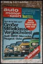 AMS Auto Motor Sport 26/73 Simca 1100 TI Volvo 144 E DB 230/4 Audi 100